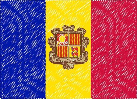 andorra: andorra flag embroidered zigzag Illustration