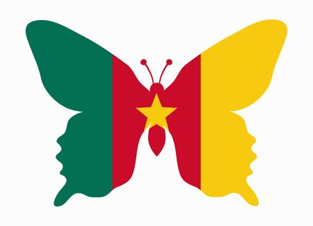 cameroon: cameroon flag butterfly