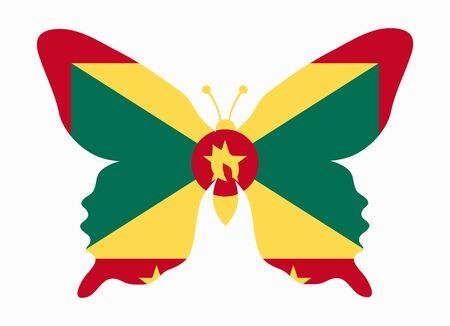 grenada: grenada flag butterfly