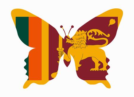 sri: sri lanka flag butterfly