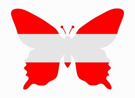 austria flag: austria flag butterfly