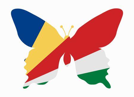 seychelles: seychelles flag butterfly