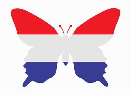 netherlands flag: netherlands flag butterfly