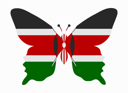 kenya: kenya flag butterfly