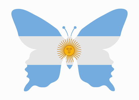 argentina flag: argentina flag butterfly