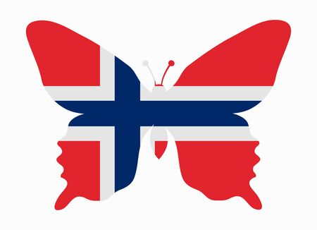 norway flag: norway flag butterfly