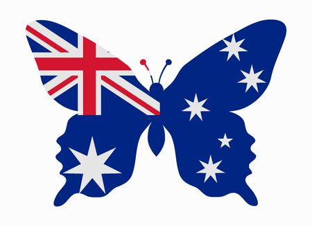 australia flag: australia flag butterfly