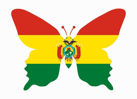 bolivia: bolivia flag butterfly