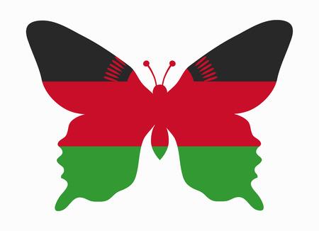 malawi flag: malawi flag butterfly