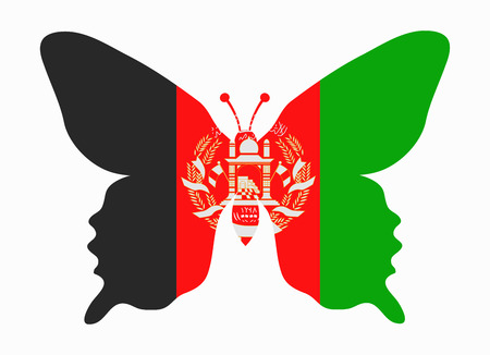 afghanistan flag butterfly
