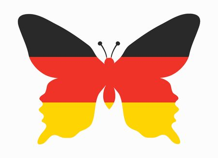 germany flag: germany flag butterfly