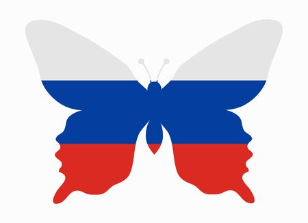 flag of russia: russia flag butterfly