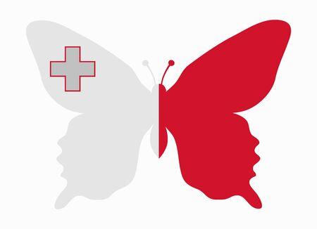 malta: malta flag butterfly