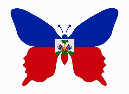 haiti: haiti flag butterfly