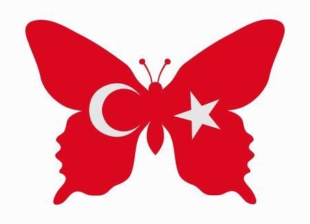 turkey flag: turkey flag butterfly