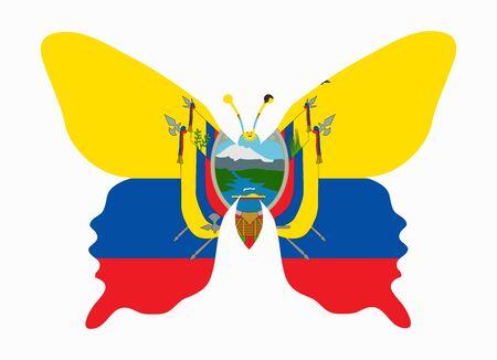 ecuador: ecuador flag butterfly