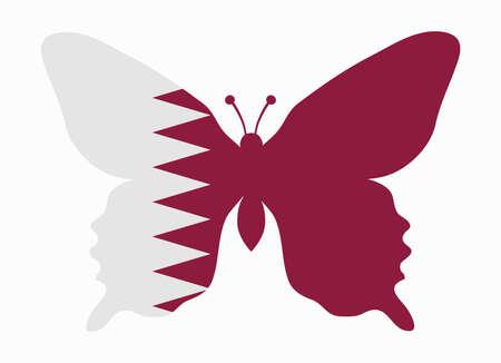 qatar: qatar flag butterfly