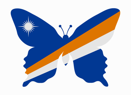 marshall: marshall islands flag butterfly Illustration
