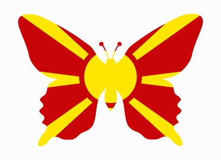 macedonia: macedonia flag butterfly