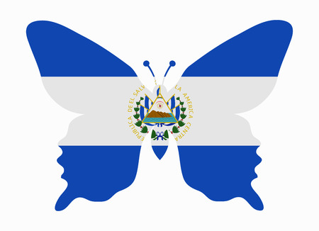 el salvador flag butterfly