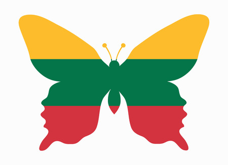 lithuania: lithuania flag butterfly