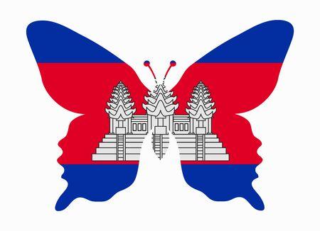 cambodia: cambodia flag butterfly