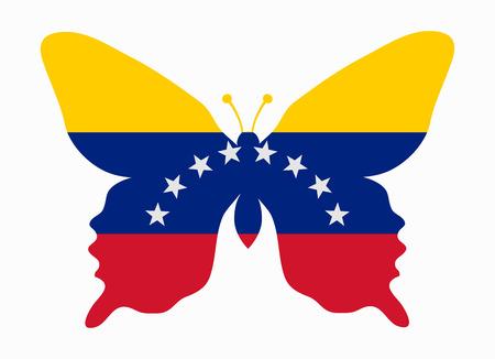 bandera de venezuela: Venezuela bandera de la mariposa Vectores