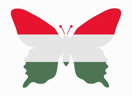 hungary: hungary flag butterfly