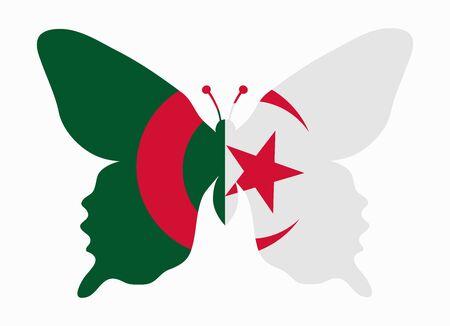 algeria: algeria flag butterfly