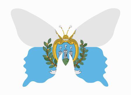 marino: san marino flag butterfly