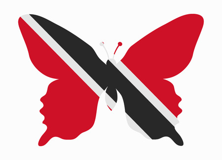 trinidad: trinidad flag butterfly Illustration