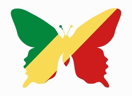 republic of the congo: republic congo flag butterfly
