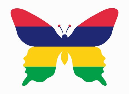 mauritius: mauritius flag butterfly