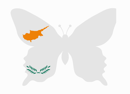 cyprus: cyprus flag butterfly