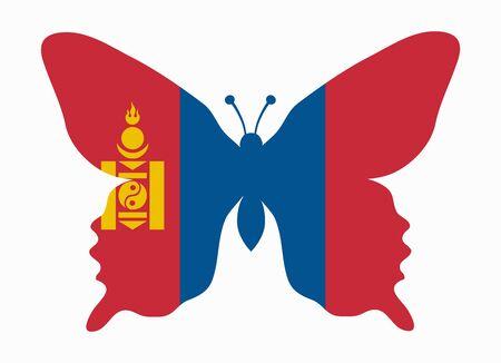 mongolia: mongolia flag butterfly