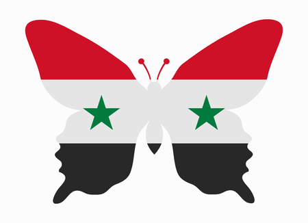 Syria: syria flag butterfly Illustration