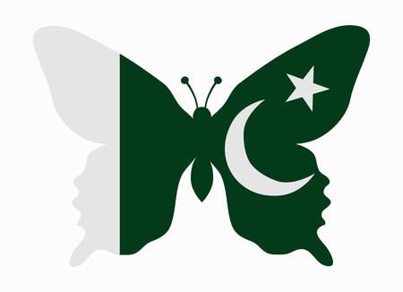 flag of pakistan: pakistan flag butterfly