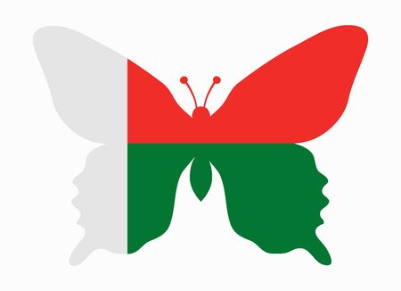 madagascar: madagascar flag butterfly