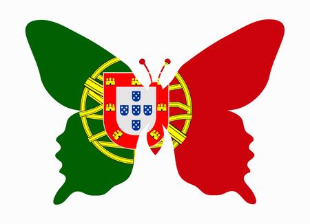 drapeau portugal: portugal drapeau papillon