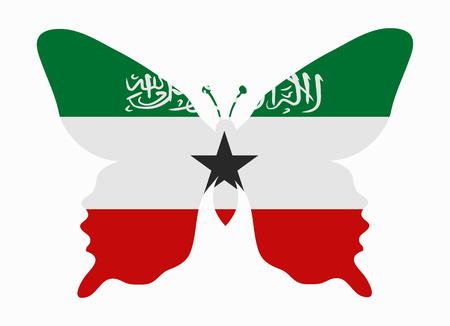 somaliland: somaliland flag butterfly
