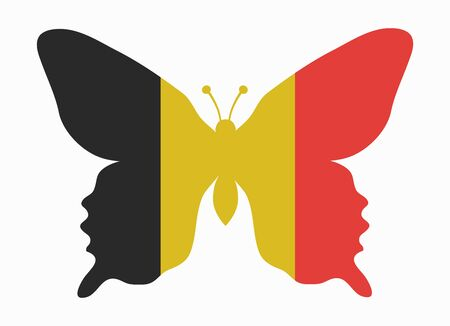 belgium flag: belgium flag butterfly