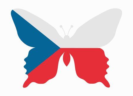 czech flag: ceco bandiera farfalla