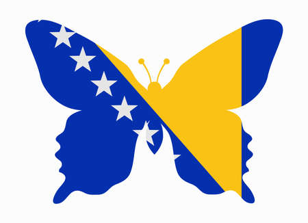 bosnia: bosnia flag butterfly