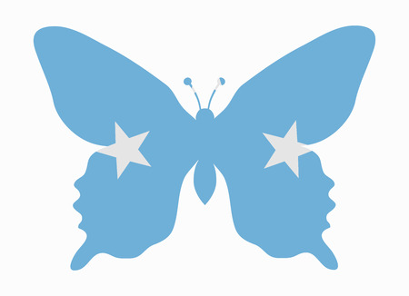 micronesia: micronesia flag butterfly