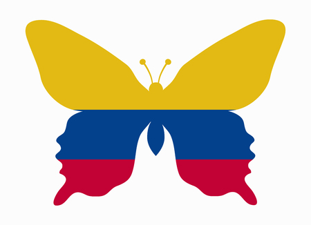 colombia flag: colombia flag butterfly