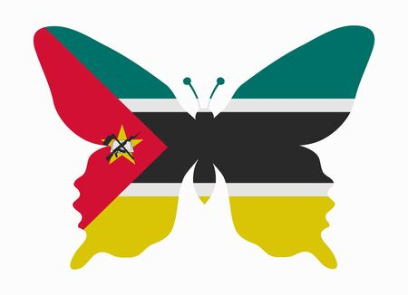 mozambique: mozambique flag butterfly