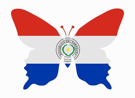Paraguay flag: Paraguay bandera de la mariposa