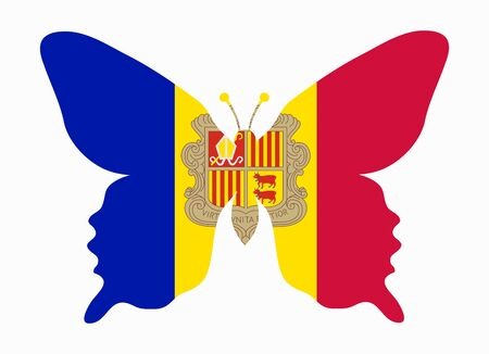 andorra: andorra flag butterfly