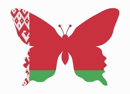 belarus: belarus flag butterfly
