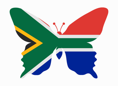 south africa flag: south africa flag butterfly Illustration